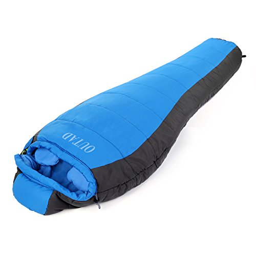 OUTAD Outdoor Winter Camping Waterproof Sleeping Bag (Blue-gray, Large) ()