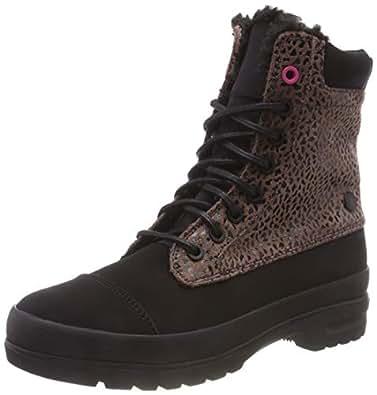 DC Shoes Amnesti Winter, Zapatillas de Skateboard para Mujer, Marrón (Cheetah Print Che), 36 EU