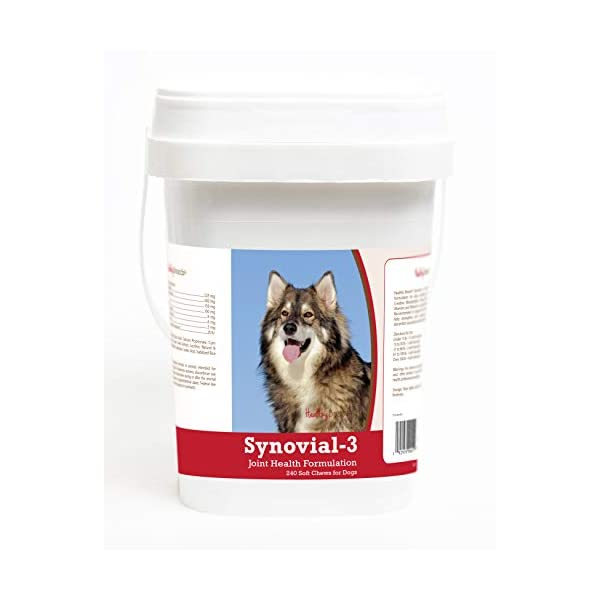 Healthy Breeds Synovial-3 Joint Health Formulation Soft Chews - Over 200 Breeds - Comprehensive Blend to Support Joint Strength Flexibility & Function - 120 or 240 Ct 1