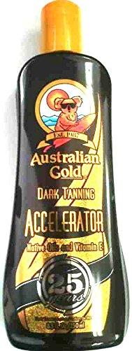 Australian Gold Dark Tanning Accelerator Tanning Lotion Indoor / Outdoor Sun Tan (8.5 oz)
