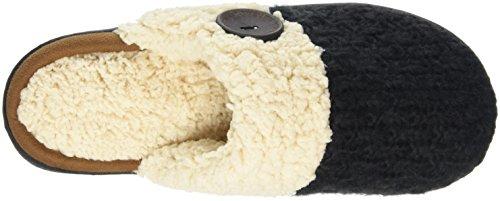 Closed Knit Black Dearfoams Black WoMen Back Scuff Textured Open Toe Slippers qOOntWH6f