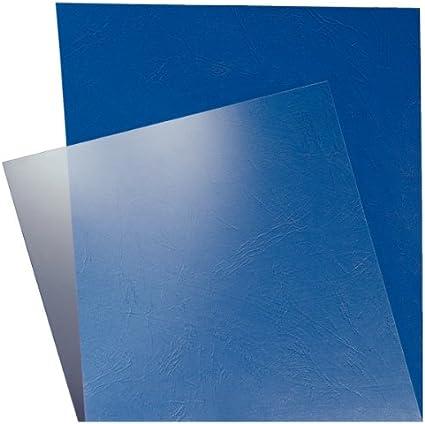 LEITZ 33681 - Tapas encuadernación PVC 180 micras (Pack 100 ud.) color transparente: Amazon.es: Oficina y papelería