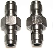 Outdoor Guy PCP Stainless Steel Both End Male Quick Disconnect Adaptor Double Male Fill Nipple