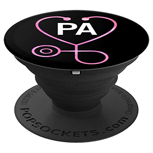 Physician Assistant Heart Stethoscope Medical Student Gift - PopSockets Grip and Stand for Phones and Tablets
