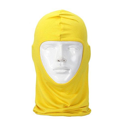 Lycra Fabrics Ski Face Mask Motorcycle Cycling Bike Neck Gaiter Hood Hiking Skateboard Balaclava Yellow