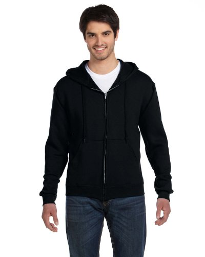 - Fruit Of The Loom Men's Heavyweight Full-Zip HoodIe, Black, X-Large