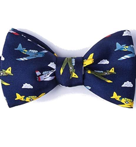 Wwii Warplanes - Men's 100% Silk Warbirds WWII Warplanes Airplanes Aviation Self Tie Butterfly Bow Tie