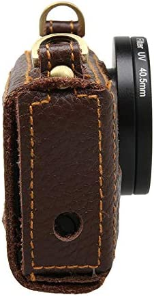 Sports Camera /& Accessories Cases /& Bags 1 x Leather Camera Case Bag for Gopro Hero MITUHAKI Portable Leather Case Cover Bag for Action Camera Hero 4 Silver with 40.5mm Lens Kit - Brown