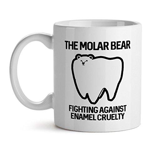 The Molar Bear Fighting Aginst Enamel Cruelty Tooth Ache Problem - Mad Over Mugs - Inspirational Unique Popular Office Tea Coffee Mug Gift 11OZ