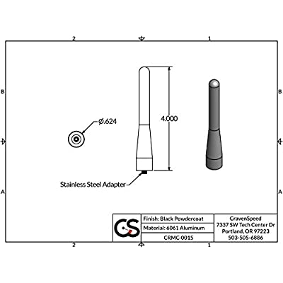 Stubby Antenna for the MINI Cooper 2001-2020 | 4 inches by CravenSpeed: Automotive