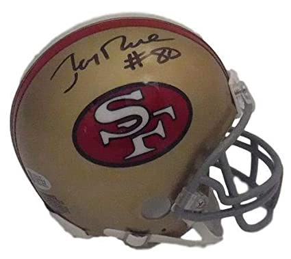9a56f523c60 Amazon.com  Jerry Rice Autographed Signed San Francisco 49ers Mini ...