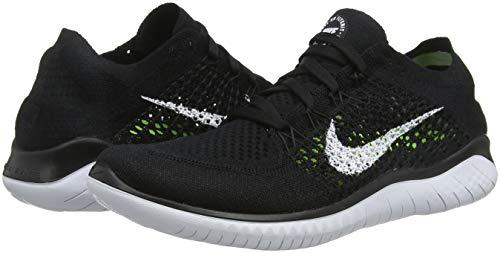 Nike WMNS Free Rn Flyknit 2018 Womens 942839-001 Size 5 Black/White by Nike (Image #5)