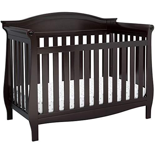 Delta Children Lancaster 4-in-1 Convertible Baby Crib, Dark Chocolate