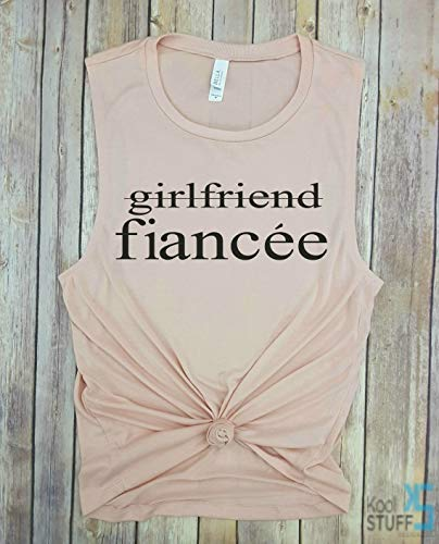 4afb689b5d380 Amazon.com  Girlfriend Fiancee Tank