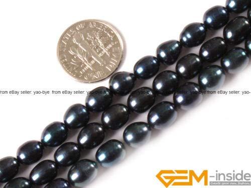 FidgetGear 6-7x7-8mm Cultured Freshwater Pearl Gemstone Rice Beads for Jewelry Making 15