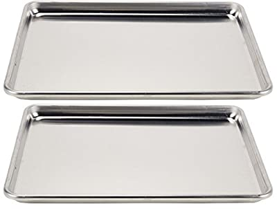 Vollrath 2-Piece Wear-Ever Half-Size Sheet Pans Set, 18-Inch x 13-Inch, Aluminum