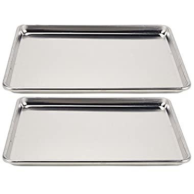Vollrath 5314 Wear-Ever Sheet Pan, Half Size, 18 x 13 x 1-inch, 2 units