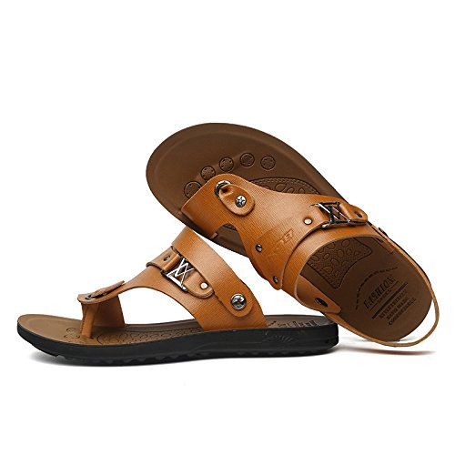 Sommer Strand Schuh Atmungsaktiv Freizeit Männer Sandalen draussen Sandalen Männer Schuh ,Gelb,US=8.5,UK=8,EU=42,CN=43