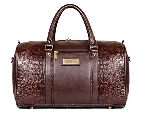 The Clownfish Crocodila 27 LTR Travel Duffel Bag | Luggage | Cabin Luggage | Weekender Bag  Dark Brown