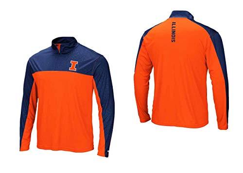 Illinois Fighting Illini Adult Luge 1/4 Zip Windshirt - Team Color, Medium