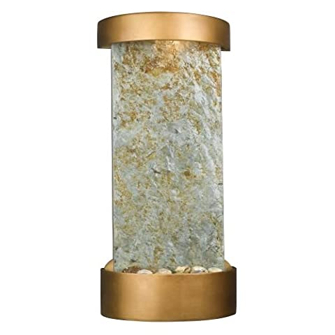 Kenroy Home #53238SL Midstream Indoor Table/Wall Fountain in Natural Slate with Copper Finish - Stone Copper Fountain