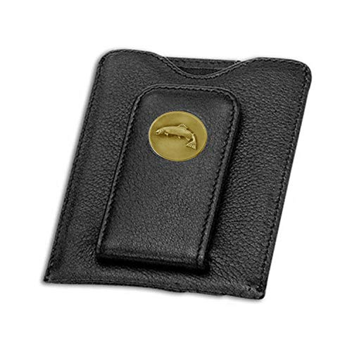 - Indiana Metal Craft Credit Card Money Clip Black with Brass Trout Emblem. SG158502A IMC-Retail