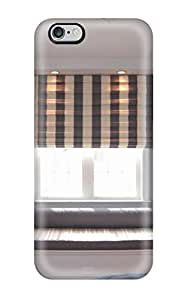 TYH - Diushoujuan 5696167K87365451 Hot Window Seat In Child8217s Bedroom With Brown And White Striped Shade Tpu Case Cover Compatible With Iphone 5/5s phone case