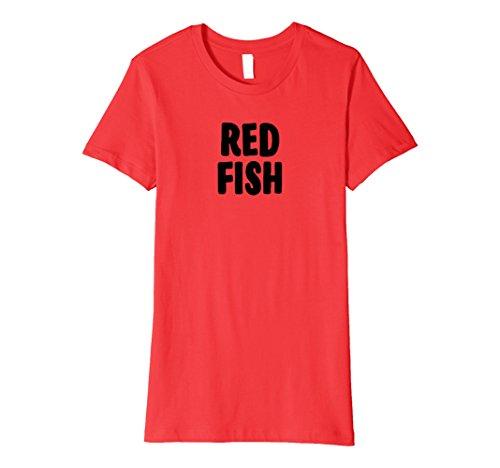 Womens Red Fish Group Halloween Costume Premium T-shirt XL (Simple Group Halloween Ideas)