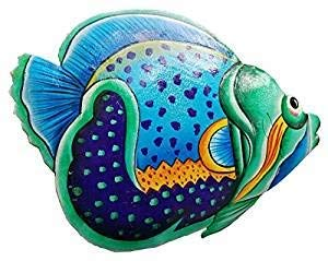 - All Seas Imports Hand-chiseled and Painted Tropical Metal Art Wall Decor Fish