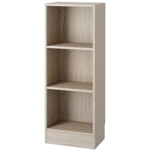 Element Short Narrow 3-shelf Bookcase Oak