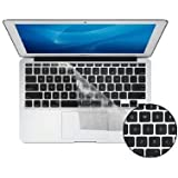 """Kuzy - AIR-11inch CLEAR Keyboard Cover Silicone Skin for MacBook Air 11.6"""" Models: A1370 and A1465 - (USA KEYBOARD VERSION) - Clear"""