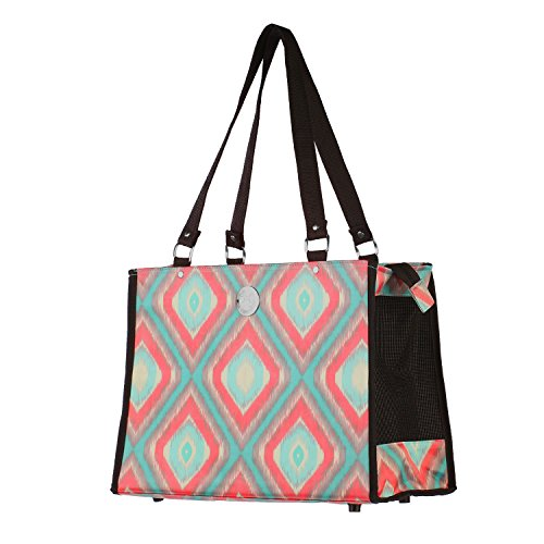 New York Dog Blue & Orange Pattern Dog Tote, Small, Blue / Orange