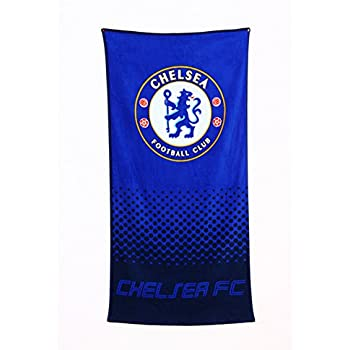 Chelsea FC Official Soccer Beach Towel (One Size) (Blue)