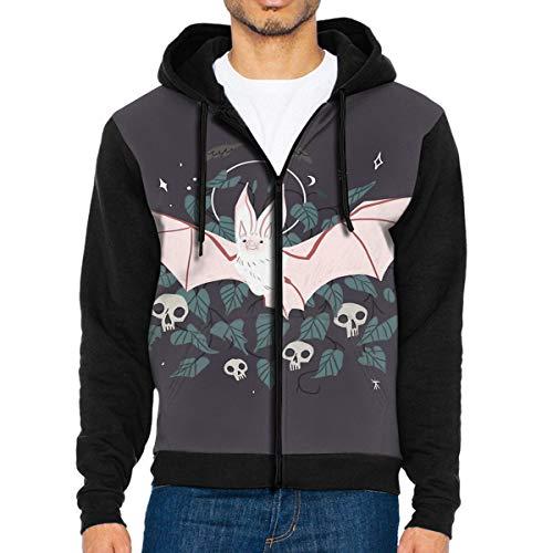 Men's Hooded Sweatshirt Desert Long Eared Bat Halloween Hoodies M -