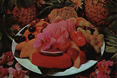 Fresh Fruit Plate at The Nut Tree Vacaville, California Original Vintage ()