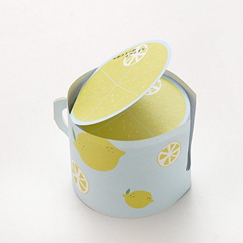 Fruit Extreme (Sticky Notes, Super-Sticky Circular 66cm,Creative Cup Shape,Fruit Design,400 Sheets/Pad (Lemon))