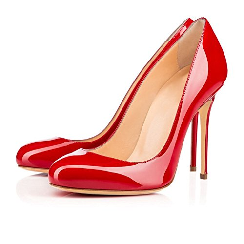 High Work Slip Round Stiletto Heels Sandals Women's Ubeauty Scarlet Toe Heel Place For Court On Shoes Dress Pumps txw0zqq5cZ