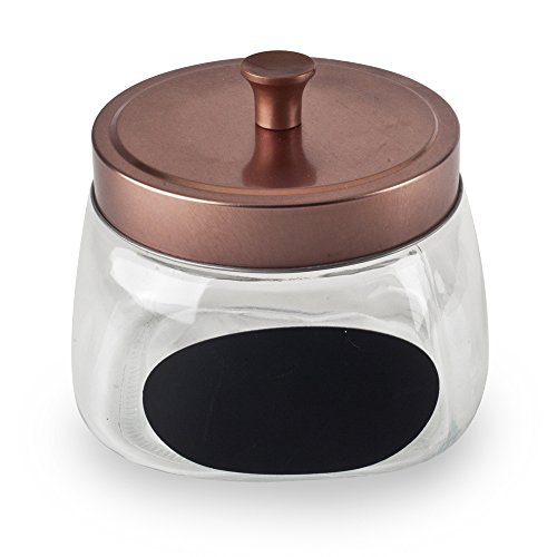 Housewares International 33692 Copper Lid & Black Chalkboard