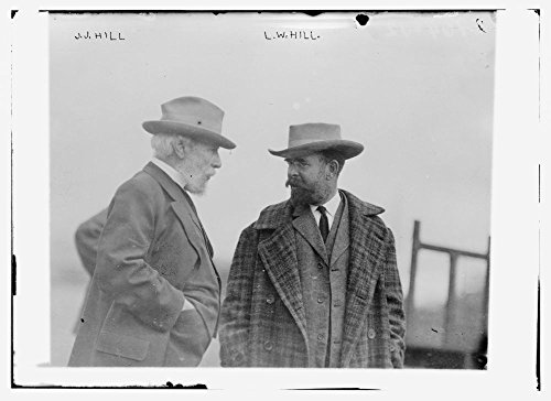 1910 Photo J.J. Hill, L.W. Hill railroad executive James Jerome Hill (1838-1916) with son Lewis W. Hill. (Source: Flickr Commons project, 2009)