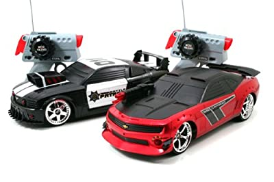 Jada Toys Mustang Vs Camaro 2 Pack Rc Laser Tag Vehicle by Jada Toys
