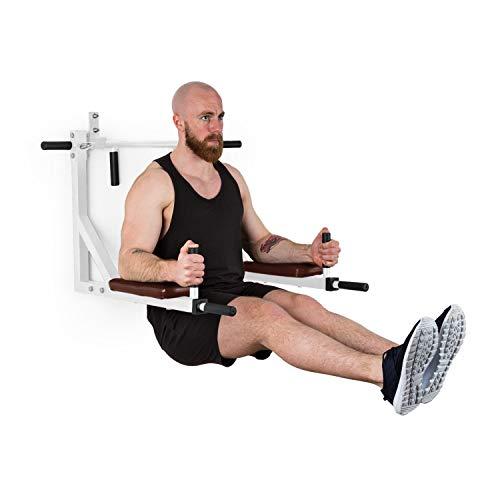 Klarfit Bouncer optrekstang – pull up bar, dipsstation, multigym, voor pull ups, chin ups, dips en push-ups, max.: 200…