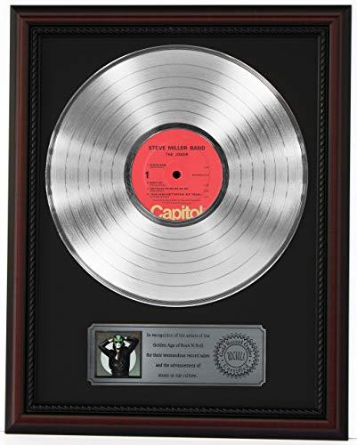 - STEVE MILLER BAND THE JOKER PLATINUM LP RECORD FRAMED CHERRYWOOD DISPLAY C3
