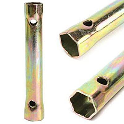 Baynne Professional Motorcycle Spark Plug Spanner 13cm 16/18mm Car Socket Wrench(Color gold)