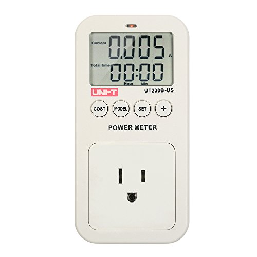 KKmoon UNI-T UT230B Series LCD Plug-in Energy Consumption Meter Voltage Current Cost Frequency Power Factor Monitor CO2 Emission Detection