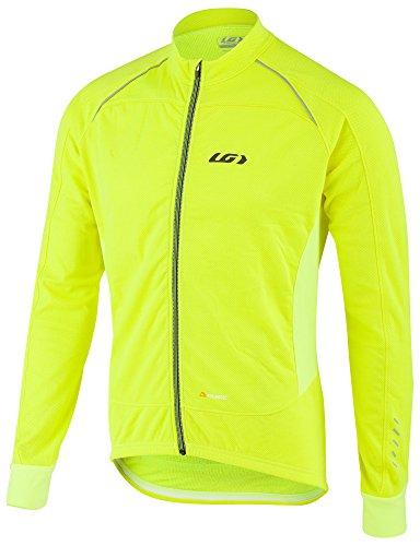 Louis Garneau Men's Thermal Pro Long Sleeve Cycling Jersey, Bright Yellow, X-Large