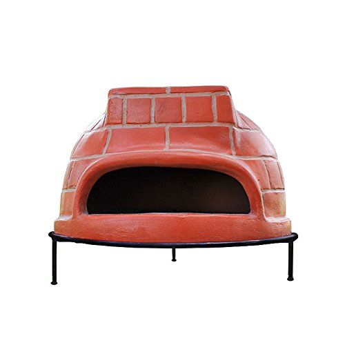 Wood Fired Oven - RAVENNA Authentic Wood-Fired Clay Pizza Oven (Red Brick Style)