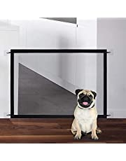Magic Gate for Dogs LHSM 72 * 110CM Portable Pet Safety Enclosure with four Adhesive Hooks Easy to Install Folding Pet Isolation Net Suitable for Mideium Small Dogs