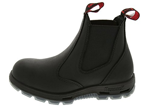 Easy Escape, 6 Slip-On Black Leather Boots, Steel Toe, UK Size 7