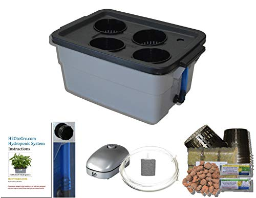Latest Complete Hydroponic System DWC BUBBLER kit #3-4 H2OtoGro Hydroponic System 7