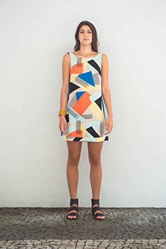 Vettori.art Vestido 60 Estampa Urbanos Colorido P